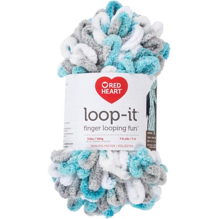 Red Heart Yarn Loop-It Play It Cool Yarn, 7.6