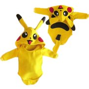 Newborn Baby Girl Boy Pokemon Pikachu Rompers Jumpsuit Outfits Cosplay Costume