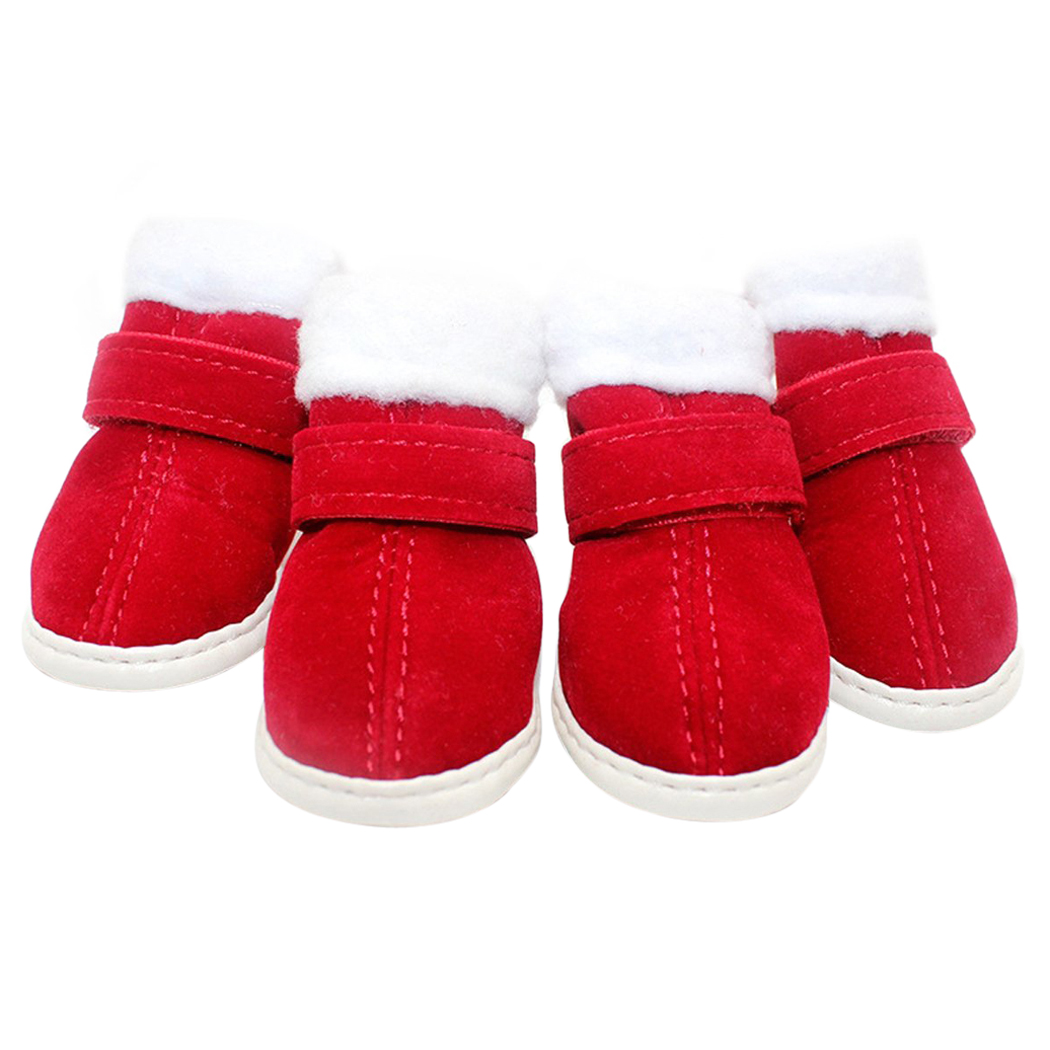 Christmas Dog Boots, Legendog Dog Shoes Anti-slip Soft Cotton Snow Boots Winter Warm Boots for Puppy