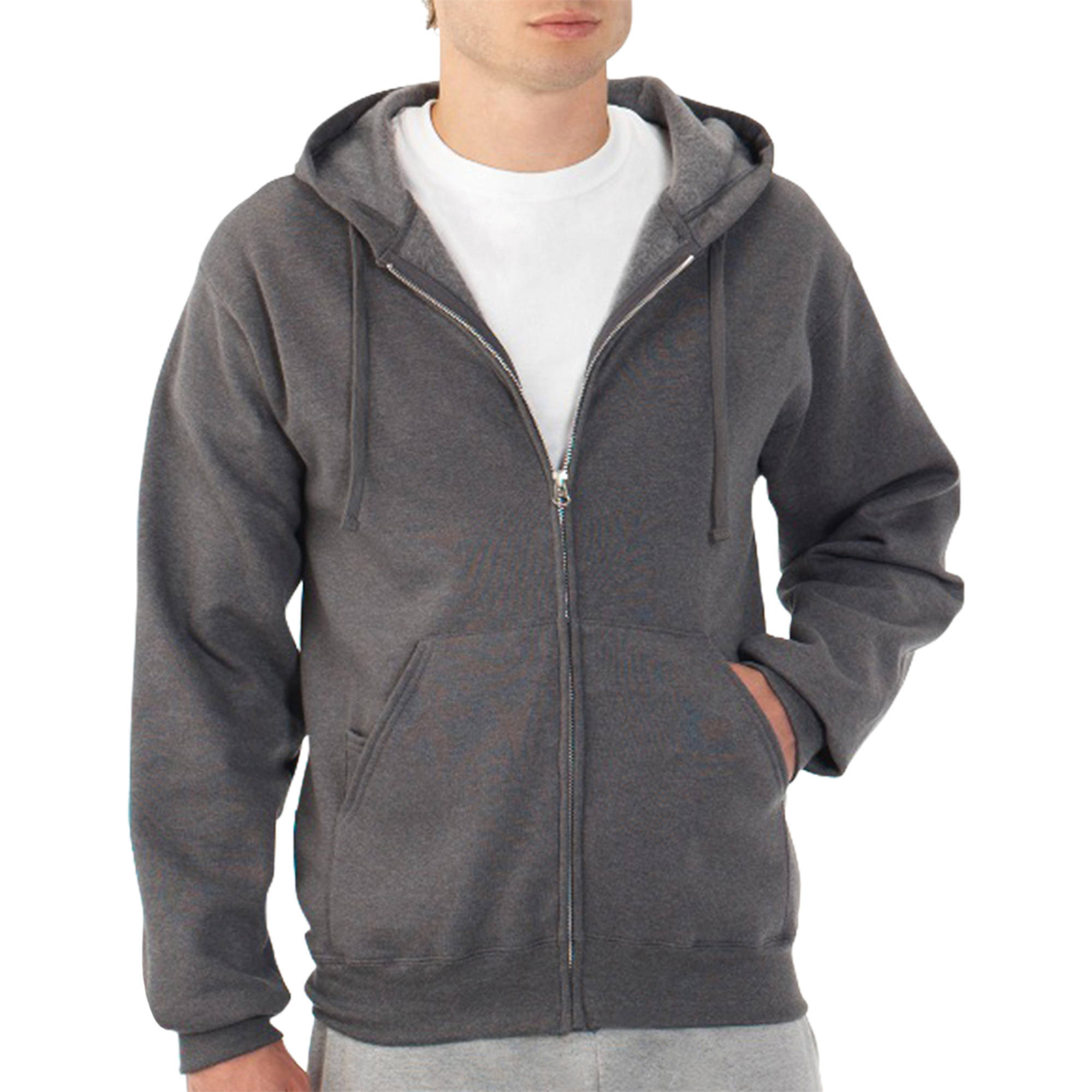 New! Fruit of the Loom Big Men's Fleece Full Zip Hood