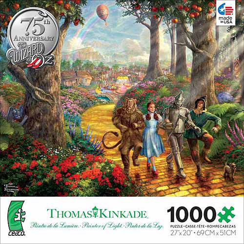 Ceaco Kinkade Warner Bros Classic Follow The Yellow Brick Road, 1000 pieces