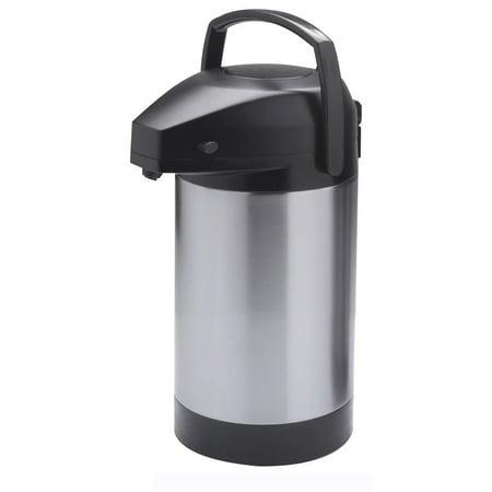 HUBERT Airpot Thermal Coffee Dispenser With Pump Lid, 2.5 Liter