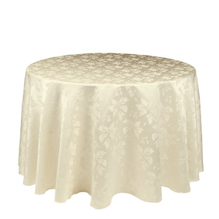108 in round falling lilies damask tablecloth white for 108 round table cloth