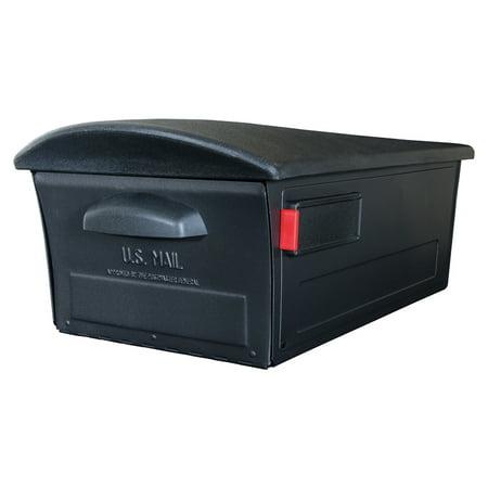Gibraltar Mailboxes Mailsafe Plastic Large Residential Post Mount Mailbox, Black ()