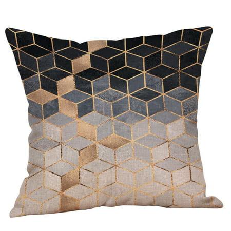 Cushion Cut Color Change (Multicolor Pillow Sequin Cover Glitter Sofa Waist Throw Cushion Case Home)