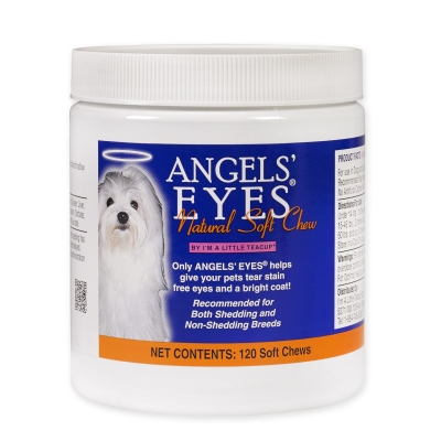 Angels' Eyes Natural Tear Stain Care for Dogs, Chicken Formula, 120 Soft Chews