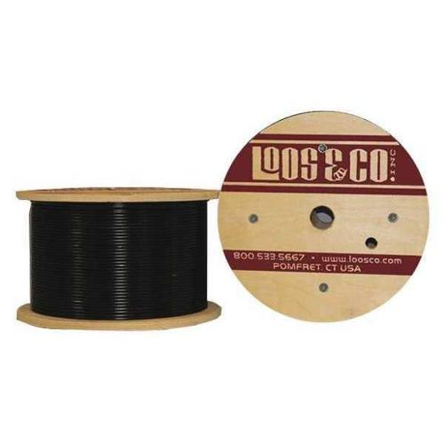 LOOS GC06377M2NB Cable,100 ft L,1/16 in,96 lb,Black Nylon G2414697