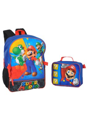 1d4b48b4fe Product Image Brothers Hit Start Backpack with Lunchbox. Super Mario Bros.