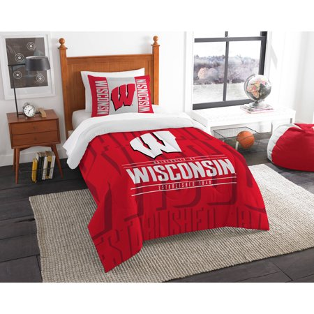 "NCAA Wisconsin Badgers ""Modern Take"" Bedding Comforter Set"