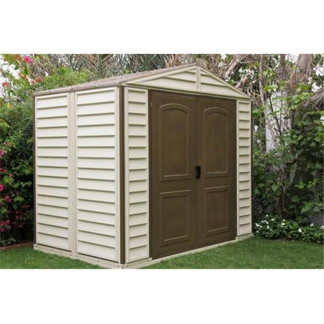 US Polymers 30114 8 ft.  x 6 ft.  Woodside Vinyl Shed with Foundation