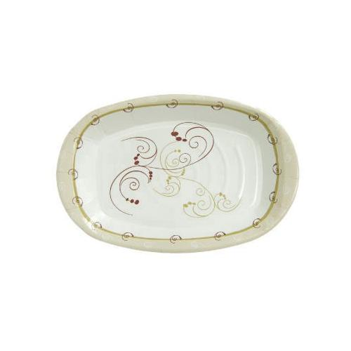 Solo Paper Platter, Medium-weight, 8x6, Symphony Design, 125/pack SCCPL86SYM