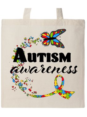 9d1b11b3e35 Product Image Autism Awareness Butterfly Ribbon Tote Bag