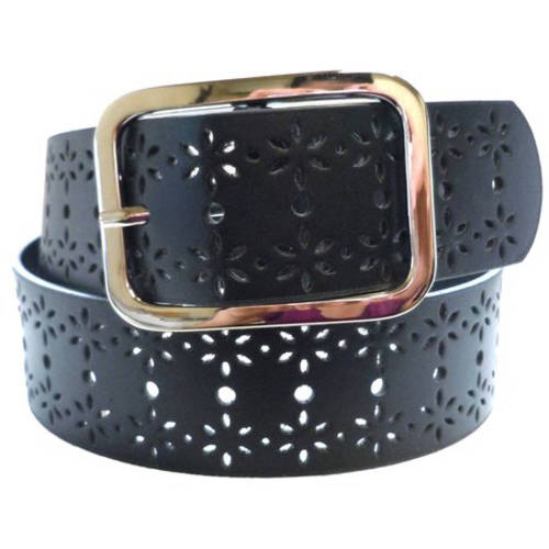 Floral Perforated Women's Belt