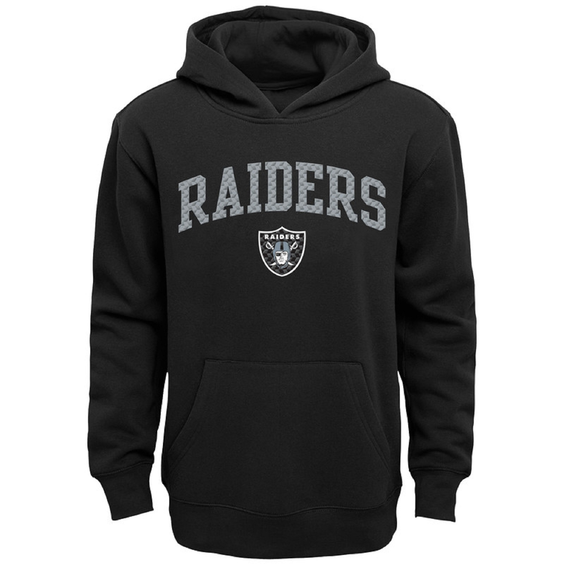 Youth Black Oakland Raiders Clear Gel Fleece Hoodie