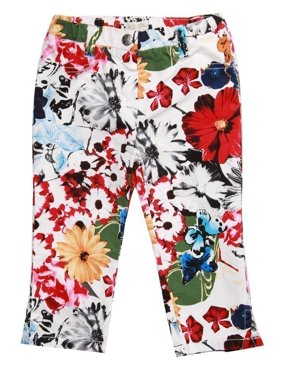 Richie House Girls' Bright Floral Print Pants RH0593