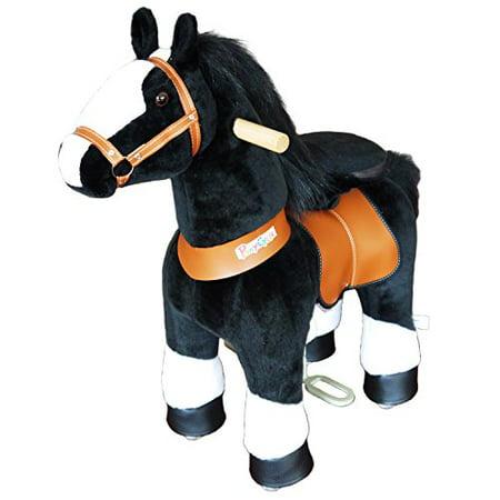 PonyCycle -Black Horse with white hoof (black mane) small - Age 3-5 (Small Horses)