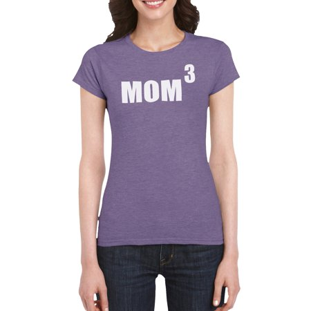 Mom To The Third Power T Shirt Gift Idea For Women