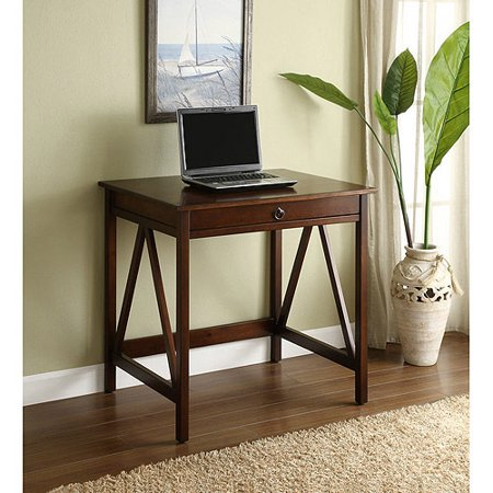 Linon Titian Laptop Desk, Antique Tobacco