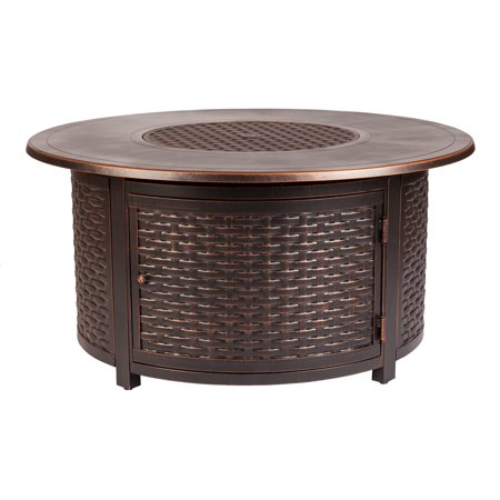 Florence Woven Aluminum LPG Fire Pit for $<!---->