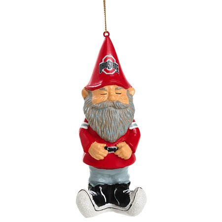 ohio state buckeyes mini garden gnome christmas ornament - Gnome Christmas Decorations