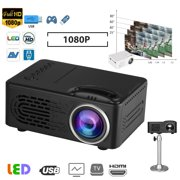 """TSV Mini Movie Projector, Full HD 1080P Video Projector 400 Lux Moive Home Cinema Theater with Built-in Speaker, Support 80"""" Display Compatible with HDMI, AV, Mobile Hard Disk, U Disk, Video Games"""
