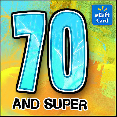 70th Birthday Walmart eGift Card