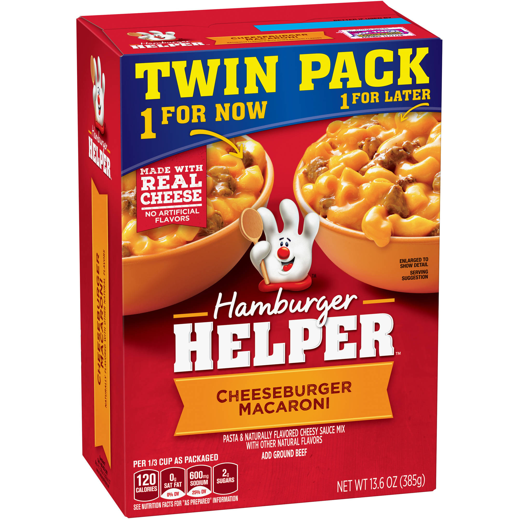 Betty Crocker Cheeseburger Macaroni Hamburger Helper, 2 count, 13.6 oz