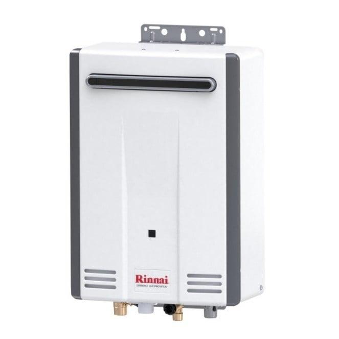 Rinnai Tankless Water Heater Residential Exterior Max Btu 120 000 5 3gpm V53dep Euro White