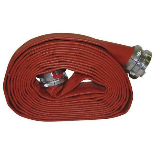 ARMORED TEXTILES G50H5RR50S Supply Line Fire Hose, Rigid Storz, Red