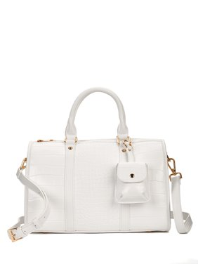 Like Dreams Mock Croc Vegan Leather Satchel with Pouch