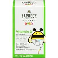 Zarbee's Naturals Baby Vitamin D Supplement, 0.47 fl oz