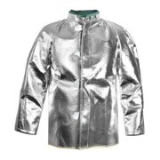 NATIONAL SAFETY APPAREL C22NLXL30 Aluminized Jacket,XL,Carbon Kevlar(R)