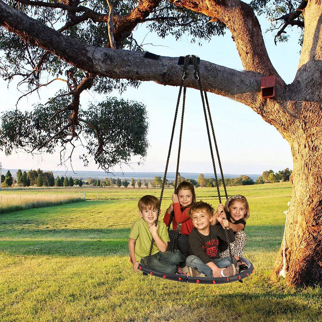 "40"" Large Size Outdoor Kids Round Rope Tire Tree Web Net Swing Nest 3color  BYE"