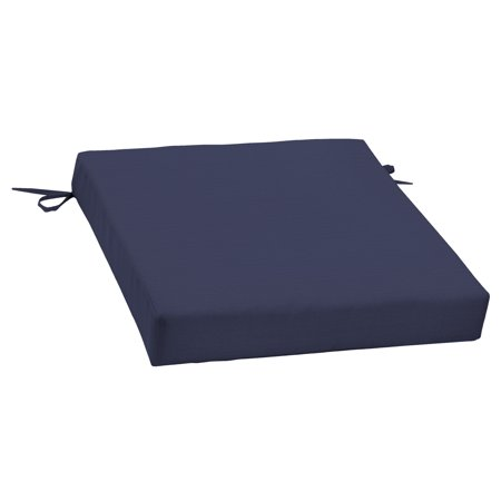 Better Homes & Gardens Navy 21 x 21 in. Outdoor Dining Seat Cushion with EnviroGuard ()
