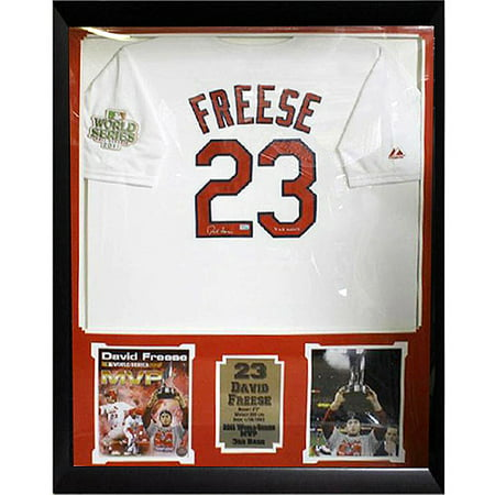 MLB 36x44 Autographed Jersey Frame, David Freese St. Louis Cardinals ...