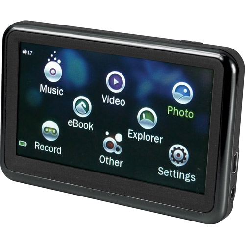 """SYLVANIA SMPK4230-BLACK 4GB 3.6"""" Touchscreen Video MP3/MP4 Player with Expandable Memory"""