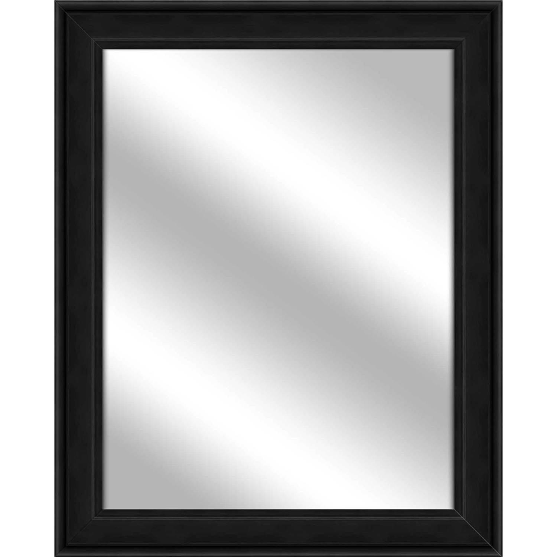 Vanity Mirror, Wood Grain Black, 26.75x32.75 by PTM Images