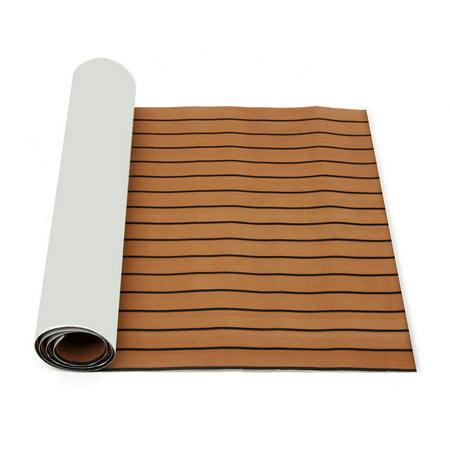 "1Pcs 35.4'' x 106.30"" Marine Boat Sheet Teak Decking Boat Flooring Mats Yacht Flooring EVA Foam Floor Sheet Self-Adhesive Mat,  5mm/6mm Thickness  - image 2 de 7"
