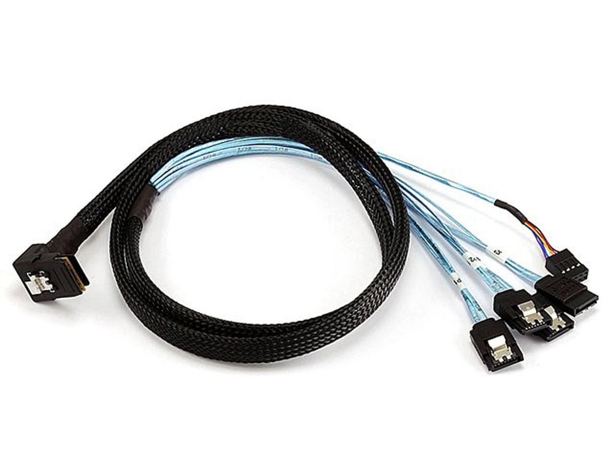 108184 Monoprice 1m 28AWG External Mini SAS 26-Pin SFF-8088 Male to Mini SAS 26-Pin SFF-8088 Male Cable Black