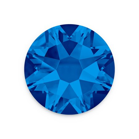 Swarovski Xilion Rose Flat Back Rhinestone 2058 6.5mm Capri Blue (Package of 5)