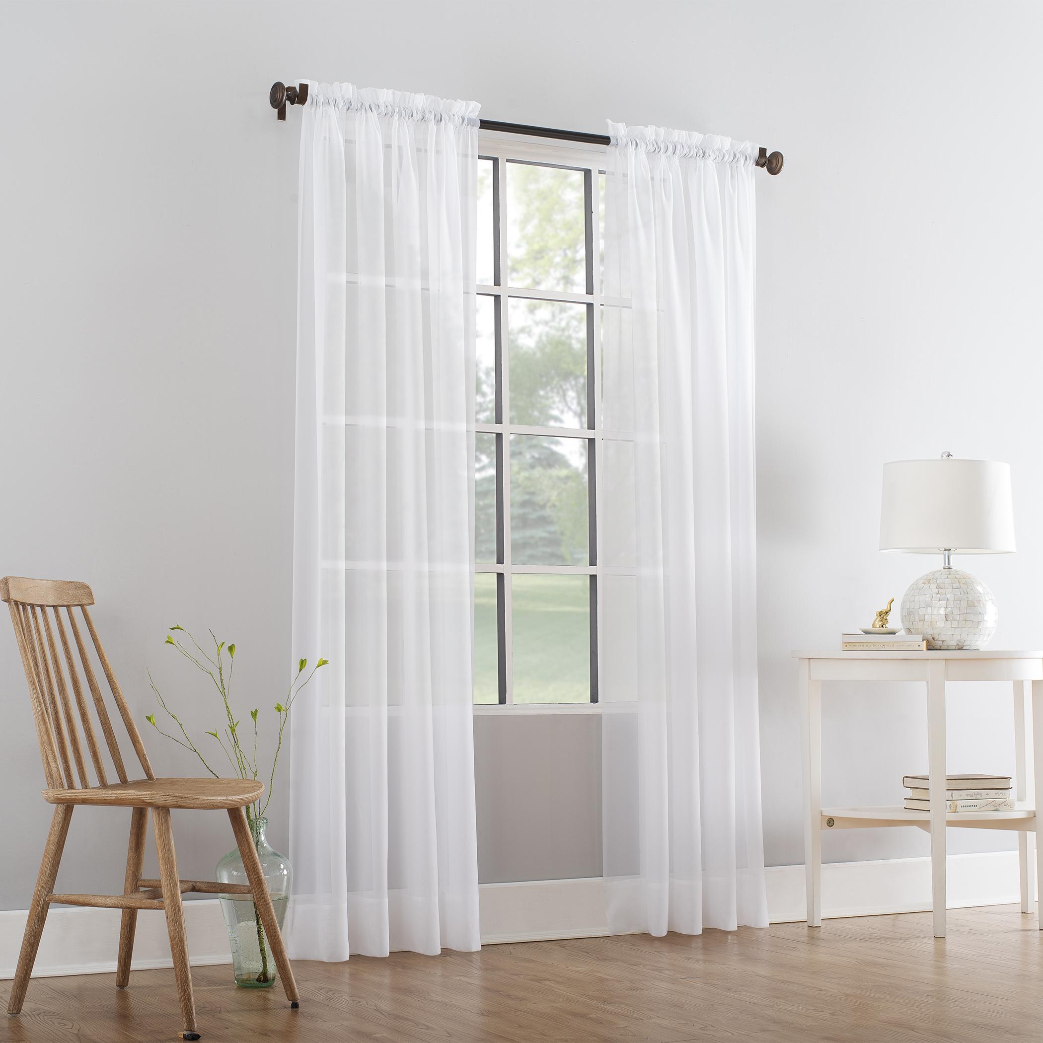 Mainstays Marjorie Sheer Voile Curtain Panel
