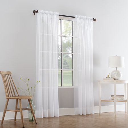 Mainstays Marjorie Sheer Voile Curtain (Cottage Cove White Panel)