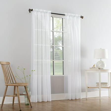 Mainstays Marjorie Sheer Voile Curtain Panel ()