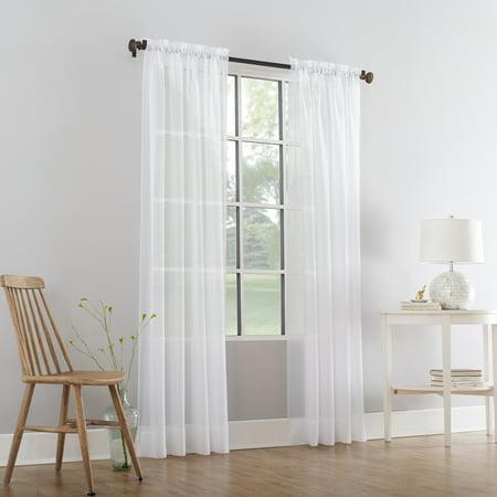 Mainstays Marjorie Sheer Voile Curtain - Length Ladies Sheer