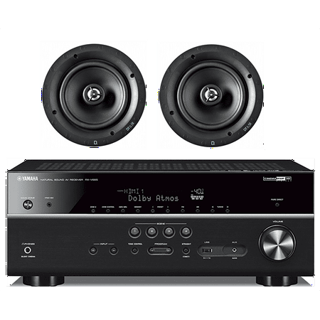 Yamaha 7.2-Channel Wireless Bluetooth 4K Network A/V Wi-Fi Home Theater Receiver + Definitive Technology 6-1/2