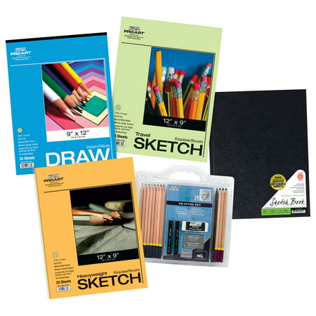 Pro Art Hardbound Book Drawing and Sketch Paper 22 Piece Value (Best Sketch Pad For Pc)