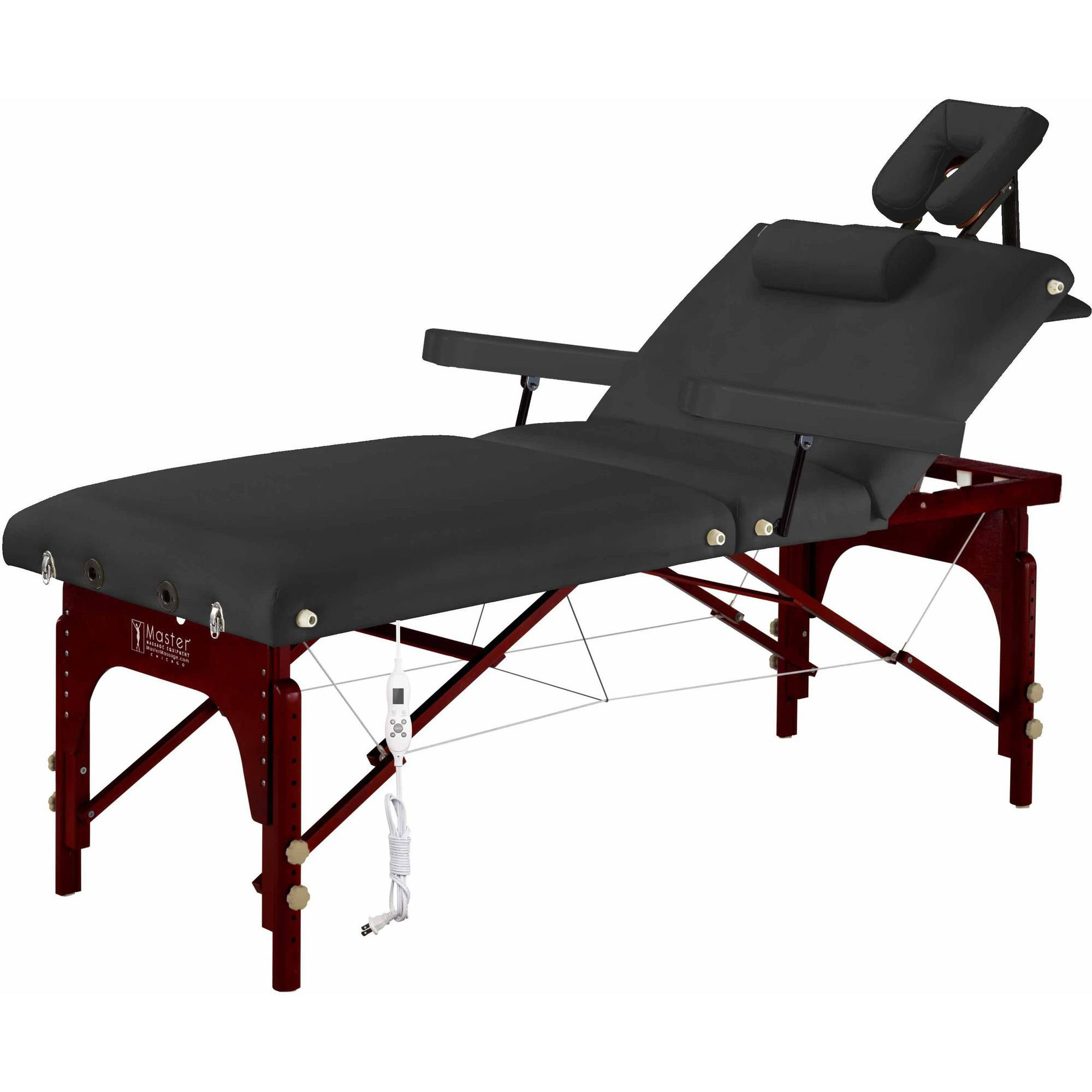 "Master Massage 31"" Montclair Salon Therma-Top Package Massage Table, Black"