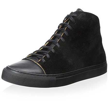 Damir Doma Cotton (Damir Doma Men's Framio High Top Sneaker, Coal, 37 M EU/4 M US)