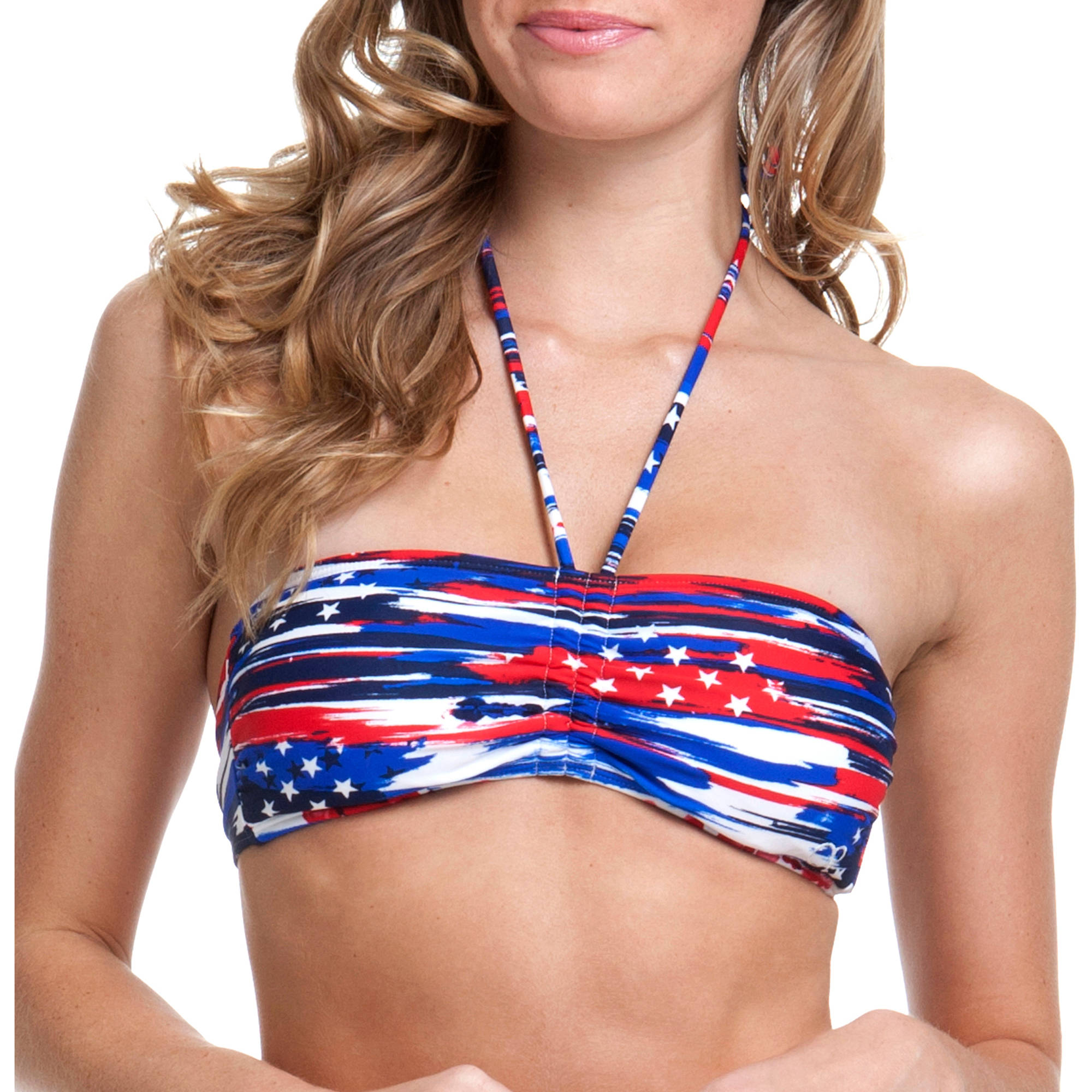 OP Juniors' Swim Star Search Bandeau Bikini Swimsuit Top