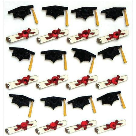 Jolee's Boutique Graduation Caps & Diplomas Stickers, 24 Piece